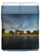 Butterfly Lake At Middleton Place Duvet Cover