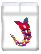 Butterfly Migration Duvet Cover