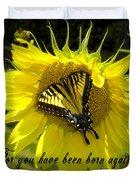 Butterfly Monarch Ba Duvet Cover