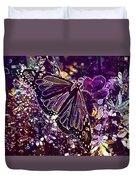 Butterfly Monarch Flower  Duvet Cover