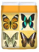 Four Butterfly Montage Duvet Cover