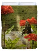 Butterfly Notes Duvet Cover