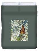 Butterfly On Beach Duvet Cover