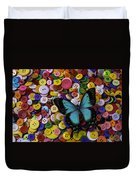 Butterfly On Buttons Duvet Cover