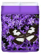 Butterfly On Campanula Get Mee Duvet Cover