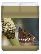 Butterfly On Grass Tree Flowers Duvet Cover