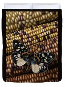 Butterfly On Indian Corn Duvet Cover