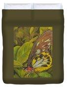 Butterfly On Leaves Duvet Cover
