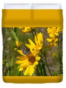 Butterfly On Mule's Ear Duvet Cover