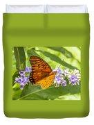 Butterfly On Purple Duvet Cover