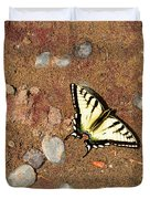 Butterfly On The Beach Duvet Cover