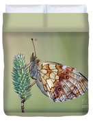 Butterfly On The Grass Duvet Cover