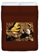 Butterfly On The Rocks Duvet Cover