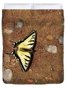 Butterfly On The Sand Two  Duvet Cover