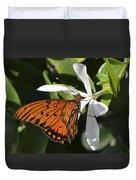 Butterfly On White Duvet Cover