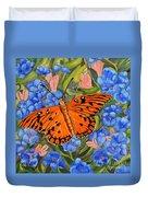 Butterfly Orange Duvet Cover