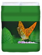 Butterfly Pose Duvet Cover