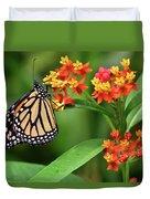 Butterfly Resting On Flower Duvet Cover