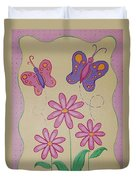 Butterfly Smiles Duvet Cover