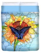 Butterfly Sunday After The Rain Duvet Cover