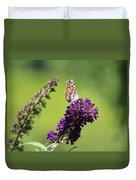 Butterfly With Flowers Duvet Cover