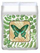 Butterfly With Leaves 2 Duvet Cover