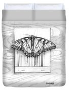 Butterfly With Matchbook Duvet Cover