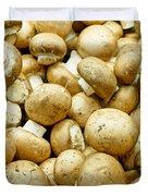 Button Mushrooms Duvet Cover