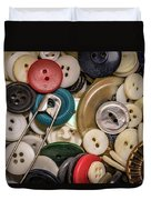 Buttons And Buttons Duvet Cover