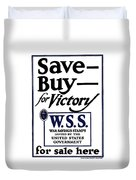 Buy For Victory Duvet Cover