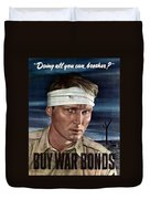 Buy War Bonds Duvet Cover