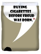 Buying Cigarettes - Mad Men Poster Don Draper Quote Duvet Cover