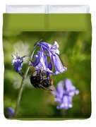 Buzzy Bee On Bluebells Duvet Cover