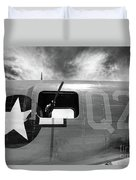 Bw Aircraft Gunner Window Duvet Cover