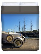 By Land And By Sea Duvet Cover