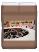 By The Fire Duvet Cover