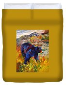 By The River - Black Bear Duvet Cover