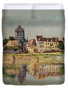 By The River At Vernon Duvet Cover