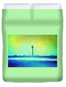 By The Sea - Cape May Lighthouse Duvet Cover