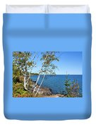 By The Shores Of Gitche Gumee Duvet Cover by Kristin Elmquist