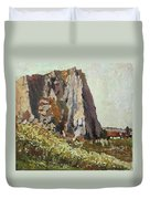 By The Stone Warrior Duvet Cover