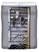 By The Tool Shed Duvet Cover