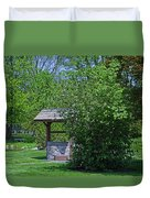 By The Wishing Well-horizontal Duvet Cover