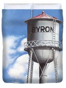 Byron Water Tower Poster Duvet Cover