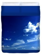 Byzantine Blue Skies With Clouds Duvet Cover