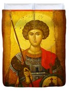 Byzantine Knight Duvet Cover