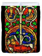 Byzantine Stained Glass Duvet Cover