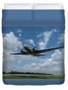 C-47 Dakota Low Pass Over Jekyll Island Airport. 2015 Duvet Cover