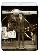 Charles A. Lindbergh And Spirit Of St. Louis 1927 Duvet Cover