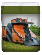 C And H Railroad Snowplow Duvet Cover